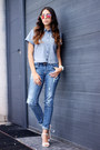 Blue-denim-pull-bear-jeans
