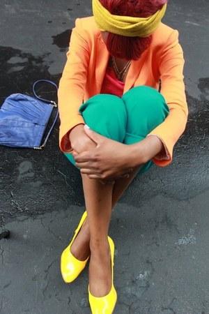 Zara blazer - H&M top - heels