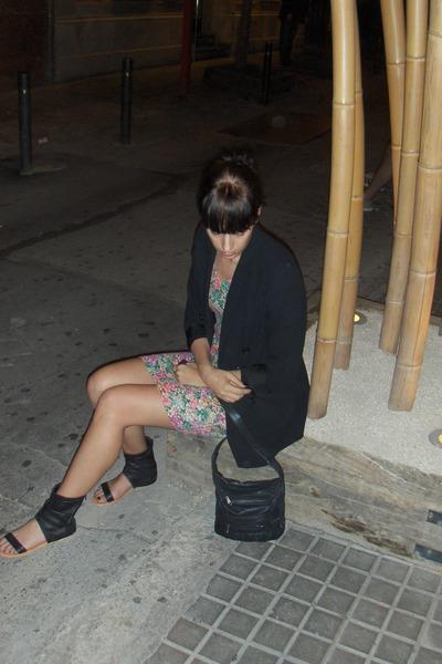vintage dress - vintage blazer - DinSko shoes - vintage purse