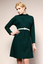 hunter green vintage dress