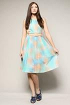 dip dye vintage dress