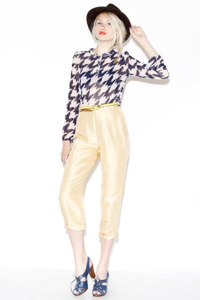 raw silk vintage pants