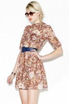 floral mini vintage dress