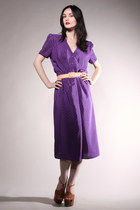 purple print vintage dress