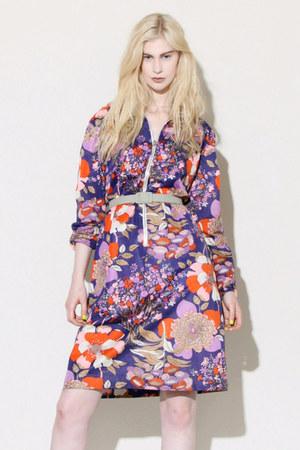 passion flower 1960s dress