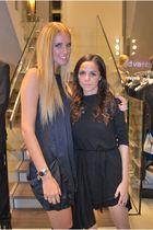 black Brandy & Melville dress - blue Penny Black dress - gold Juicy Couture acce