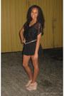 Black-flare-express-shorts-camel-wedges-black-lace-forever-21-top-leopard-