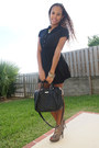 Black-dress-black-mango-bag-lime-green-h-m-necklace
