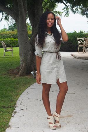 beige Mango dress - eggshell Aldo heels