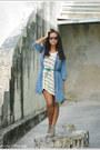 Heather-gray-h-m-boots-eggshell-mango-sweater-sky-blue-mango-shirt