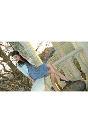 Jcrew cardigan - Jcrew dress - tory burch shoes