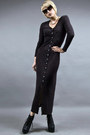 Black-jeffrey-campbell-shoes-dark-gray-knit-maxi-tractordog-dress-black-wide