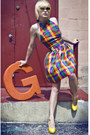 Yellow-alloy-charles-albert-shoes-80s-checkered-tractordog-dress