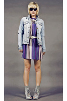 j crew thrifted jacket - tractordog dress - thrifted belt - Jeffrey Campbell