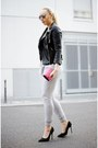 Black-zara-jacket-heather-gray-h-m-pants