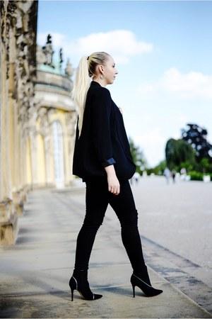 black H&M jeans - black H&M blazer