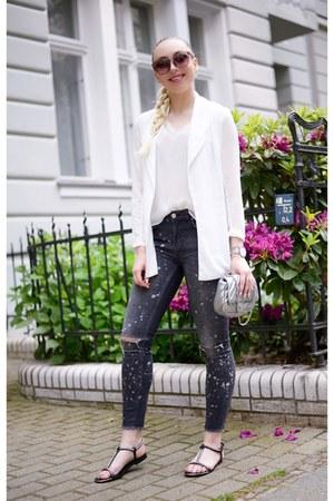 gray skinny jeans Zara jeans - silver silver Zara bag