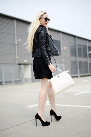 black dress - black jacket