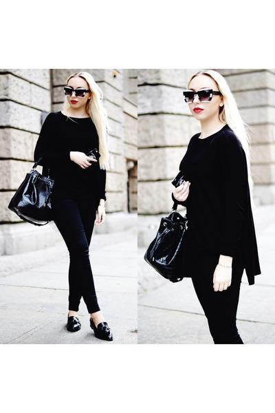 Black-h-m-jeans-black-asos-flats