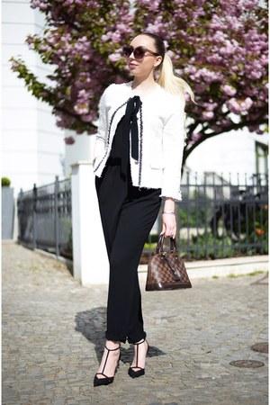 black jumpsuit Zara bodysuit