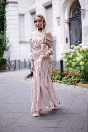light pink chiffon H&M dress