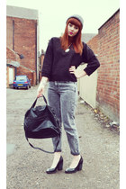 mom jeans Topshop jeans - Topshop heels - Topshop jumper