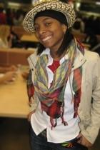 belt - hat - scarf - jacket