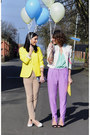 Camel-zara-pants-light-purple-h-m-trend-pants-vintage-jacket