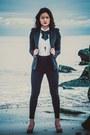 Black-zara-blazer-black-american-apparel-pants-white-button-down-uniqlo-top