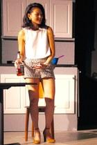 BDG shorts - BDG top - Annie Sez heels