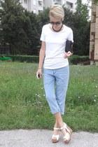 ovs t-shirt - New Yorker bag - SIX sunglasses - Tally Weijl necklace