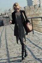 Zara boots - Koton coat - H&M bag - New Yorker sunglasses - Only blouse