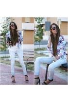 PERSUNMALL blazer - PERSUNMALL t-shirt - Primark sandals