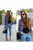 Front Row Shop jeans - Front Row Shop jacket - Zara heels