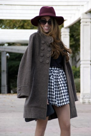 Primark hat - Zara coat - Choies skirt