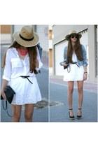 OASAP necklace - pull&bear shirt - Primark bag - Stradivarius skirt