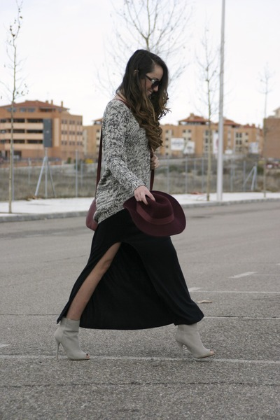 Primark boots - PERSUNMALL dress - Primark hat - PERSUNMALL sweater