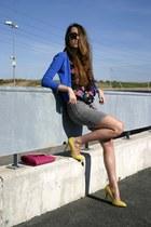 Primark shirt - Primark bag - pull&bear skirt - Zara cardigan - Zara heels