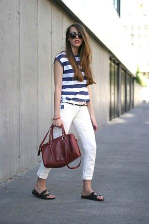 Primark bag - Primark t-shirt - Primark sandals - Bershka pants