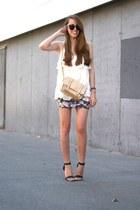 Chicwish top - Primark bag - Primark sandals - Bershka skirt