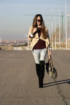 Sheinside coat - Bershka boots - OASAP sweater