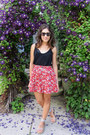 Karen-walker-sunglasses-aerie-bra-h-m-skirt-h-m-top