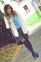 beige 2nd Hand cardigan - black River Island shoes - black 2nd Hand bag