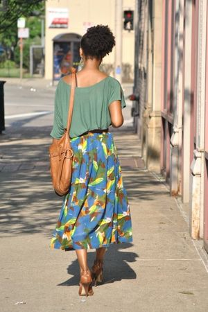 Lux shirt - thrifted skirt - Cocinelle purse - Steve Madden shoes