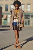 Zara dress - vintage bag - Nine West wedges - DIY vest