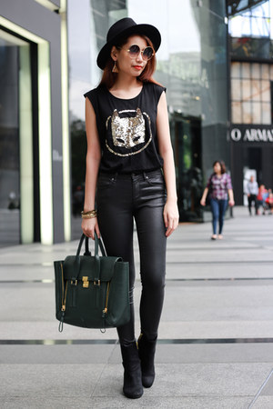 31 Phillip Lim bag - Topshop jeans - sequin batman Zara top