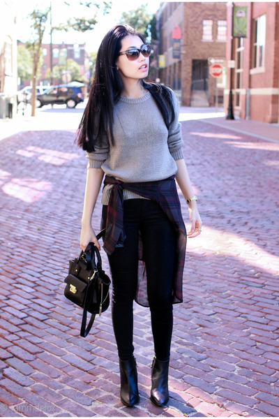 H&M sweater - Zara boots - Zara shirt - 31 Phillip Lim bag - H&M pants