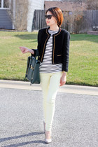 black classy Forever21 blazer - lemon Topshop jeans - 31Philliplim bag
