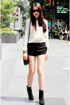 Zara shirt - H&M boots - Forever 21 shorts