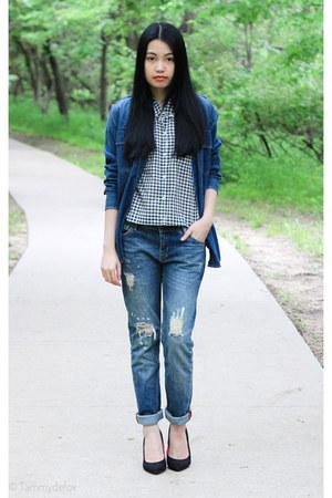 boyfriends Mango jeans - crop-shirt Forever21 top